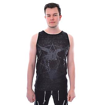 Heartless - pentagram vest - black