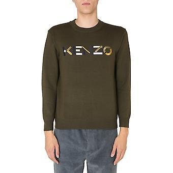 Kenzo Fa65pu5413la50 Men's Suéter de Lã Verde