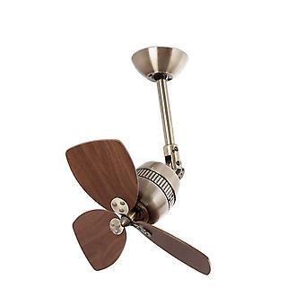 Faro Vedra Petit ventilateur de plafond sans laiton antique léger, noyer