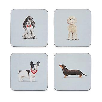 Cooksmart Curious Dogs Set of 4 Coasters