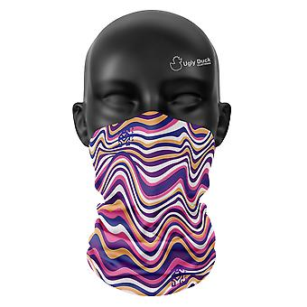 Colour Waves Snood Face Mask Scarf Neckerchief Head Covering Tube Warmer Buffs