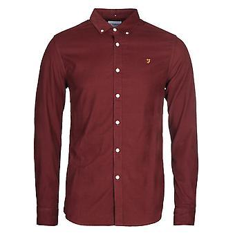 Farah Fontella Burgundy Slim Fit Shirt