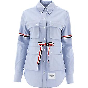 Thom Browne Fll098e06177480 Women's Light Blue Cotton Shirt