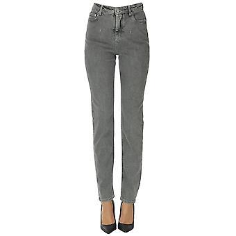Alberta Ferretti Ezgl095057 Women's Grey Cotton Jeans