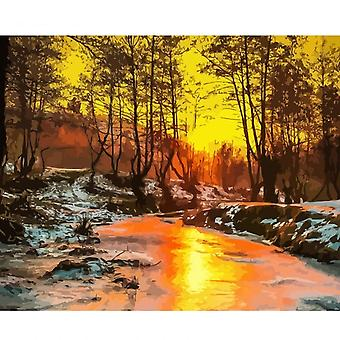 Frame Diy Painting - Landscape Picture, Handpainted Oil Painting