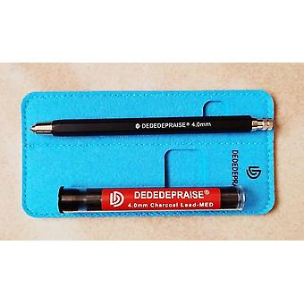 4.0mm, Soft Medium Hard Charcoal, Automatic Pen + Charcoal Lead Core Refill