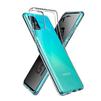 Hull For Samsung Galaxy A51, High Quality Silicone Protective Cover, Transparent