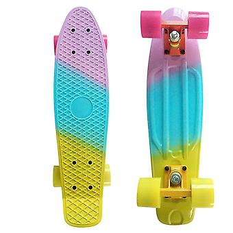 New Colorful Mini Skate Penny Board Plastic Cruiser Completed Graphic Retro