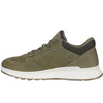 Ecco Womens Exostride Leather Gore-Tex GTX Sneakers Trainers - Grape Leaf