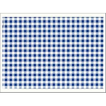 Fablon 45cm x 2m Blue Gingham FAB12818