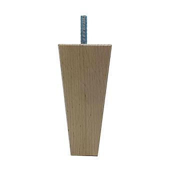 Houten trapezium meubelpoot 13 cm (M8) (1 stuk)