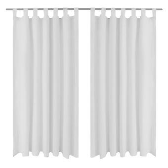 Curtains Gardienen in satin 2-piece 140 x 175 cm White