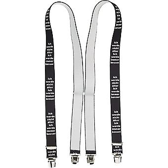 Shenky suspenders, strong clips, X-shape, unisex
