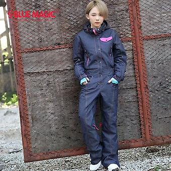 Magic New Winter Snowboard Ski Jacket Pant Suits Females Waterproof Overall