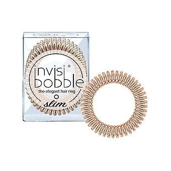 Invisibobble slanke haarbanden, brons me mooi, 3 pack - geen knik, sterke greep, stijlvolle armband - sui