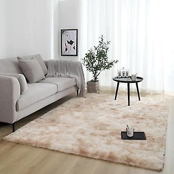 Plush Carpet For Living Room Thick Fluffy Rug Bed Floor Soft Grey Carpets Tie