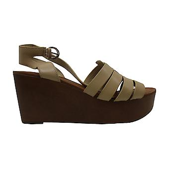 Marc Fisher Womens Pastya Leather Open Toe Casual Platform Sandals