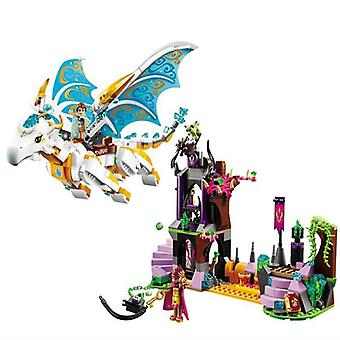 Elves Fairy Long After Rescue Dragon  Building Blocks Bricks  (10550 Nobox)