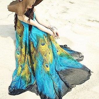 Peacock Theme Long Dress
