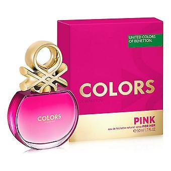 Naiset's Hajuvesi Värit Pink Benetton EDT (50 ml)