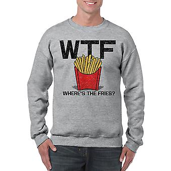 Humor Fries Men's Sports Grey Sweatshirt