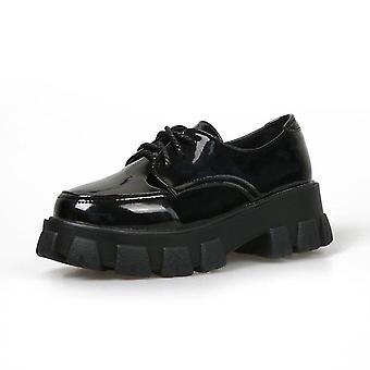 נשים עור / פלטפורמה נעלי נשים, אוקספורד קז'ואל נעליים שטוחות