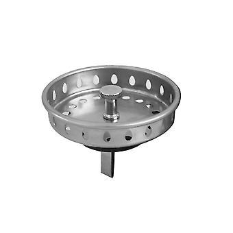 5.8*8cm Stainless Steel Kitchen Sink Strainer Basket Silver