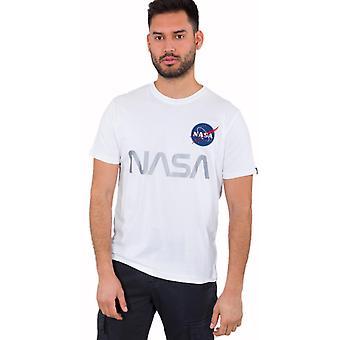 Alpha Industries NASA reflektierendes T-Shirt Weiß 68