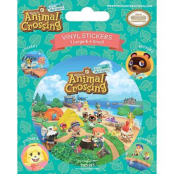 Animal Crossing Island Antics Vinyl Stickers (Pack of 5)