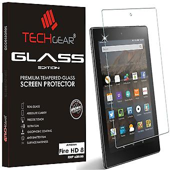 """Techgear glass edition fits amazon fire hd 8"""" tablet (2015-2018) - genuine tempered glass screen pro"""