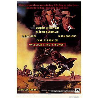 Una vez en la impresión de póster de película de oeste (27 x 40)