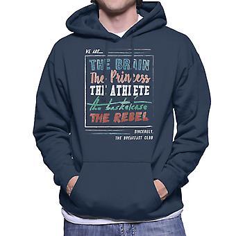 The Breakfast Club We Are The Brain Prinsessan The Athlete Men's Hooded Sweatshirt