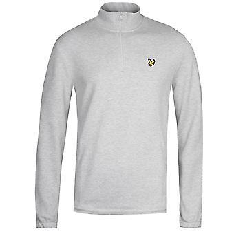 Lyle & Scott Quarter Zip Pique Sweatshirt - Grey