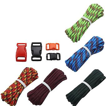 IPRee 5Pcs/set Outdoor EDC DIY Paracord Parachute Rope Cord Lanyard Survival Bracelet Knit Weaving T