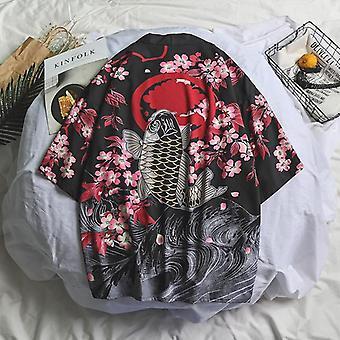 Samurai Kran japanischen Stil Kimono