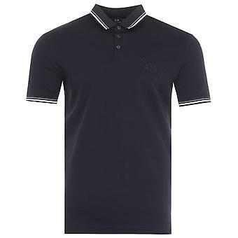 Armani Exchange Twin Tipped Polo Shirt - Dark Navy