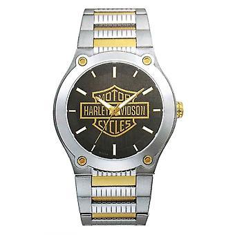 Harley Davidson 78A126 Men's Bar & Shield Two Tone Wristwatch