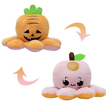 Reversible Plushie Toys Stuffed Animal Mood Plush Double Sided Flip Show Your Mood