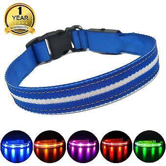 Masbrill led világít kutya nyakörv újratölthető és vízálló, villogó kutya nyakörv az éjszakai biztonság, wof67881