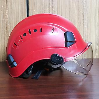 Safety Helmet With Dark Goggles Outdoor Climbing Riding Protective Helmets And