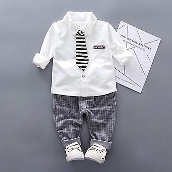 الخريف ملابس الرضع دعوى، قميص ربطة عنق حديثي الولادة وملابس السراويل مجموعة