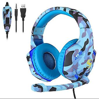 Camouflage 3.5mm Gaming Headset Mic LED Headphones For PC Laptop PS4