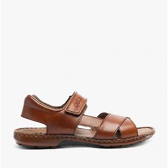 Rieker 28963 Herre Læder Touch Fastgør sandaler Tan