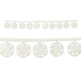 Ghirlande fiocco di neve in tessuto (confezione da 12)