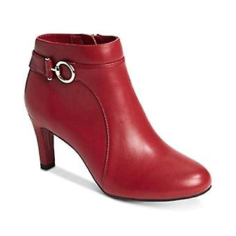 Bandolino Longo Ankle Booties Red Size 7.5