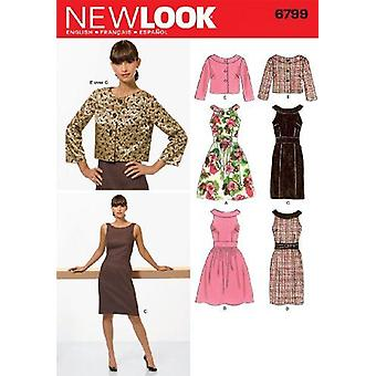 New Look Sewing Pattern 6799  Misses Dresses Size 10-18