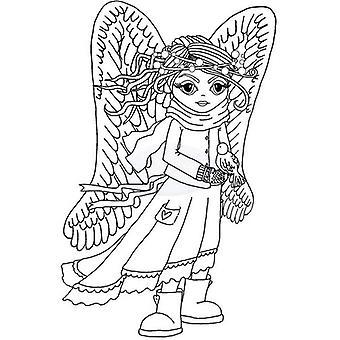 Polkadoodles Sello claro - Angel Robin A6