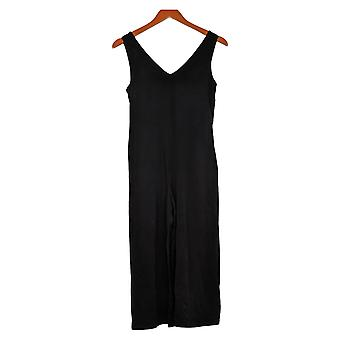 AnyBody Jumpsuits XXS Cozy Knit Wide Leg With Back Tie Detail Black A378001