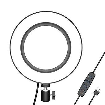 16cm LED Fill Ring Light for Photography Live Streaming YouTube Video with Ballhead Adapter