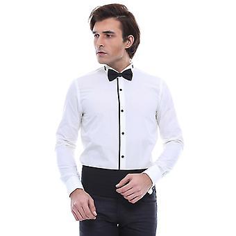 Cream tuxedo shirt   wessi